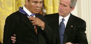 فيديو| كيف رد محمد علي على بوش حين حاول السخرية منه