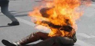 الرباط..شخص يضرم النار في جسده أمام مركز للشرطة