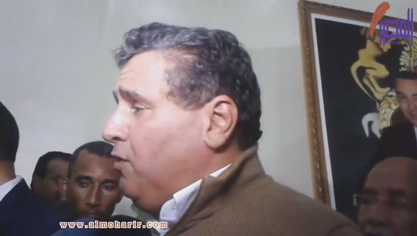 صورة تصريح عزيز أخنوش على هامش اللقاء التواصلي بالداخلة