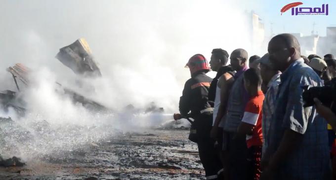 بالفيديو: حريق الدوار الجديد بسلا