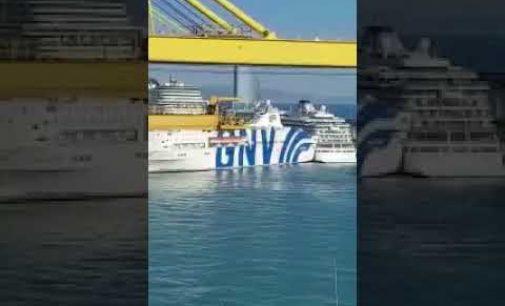 بالفيديو: لحظة اصطدام السفينة المغربية بالباخرة الإسبانية في برشلونة