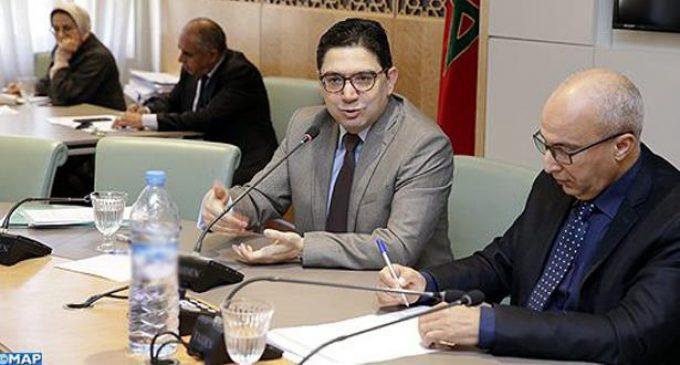 بوريطة يجدد التأكيد على تضامن المغرب الدائم مع الشعب الفلسطيني