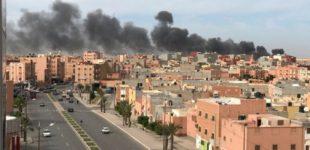 حريق بإحدى الثكنات العسكرية بمدينة العيون