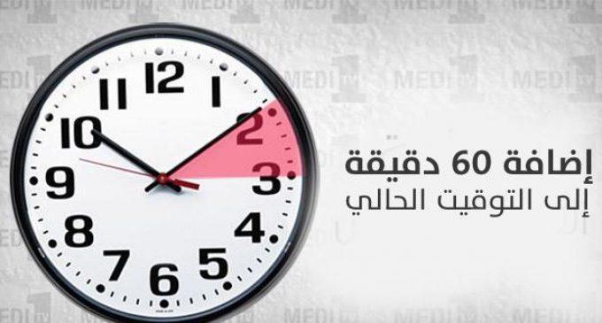 بلاغ رسمي حول إضافة ستين دقيقة إلى الساعة القانونية للمملكة