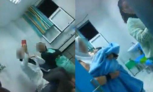 فيديو صادم..طفل صغير مختنق والممرضة كادير سيلفي