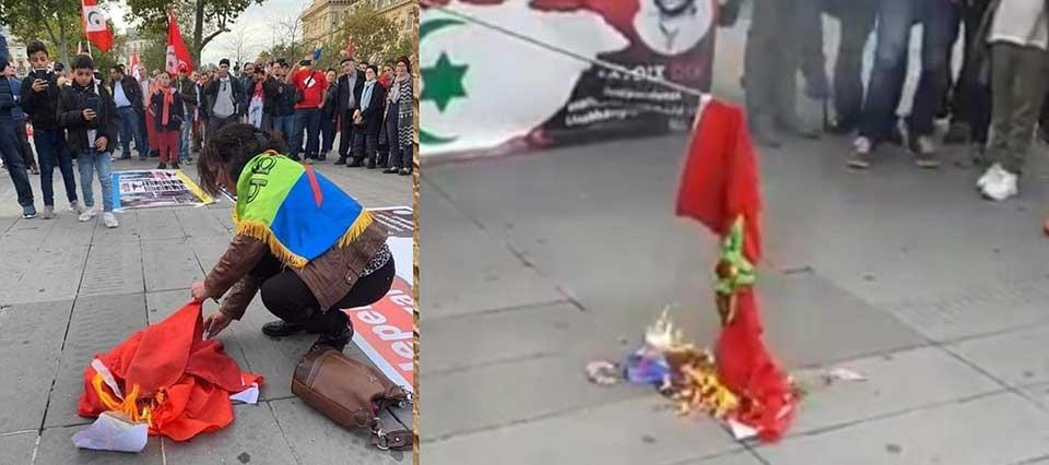 صورة المغاربة غاضبون من إحراق وتدنيس إنفصاليين للعلم الوطني بباريس