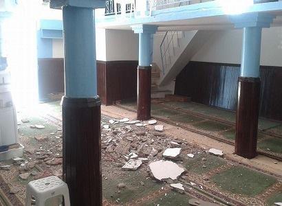 صورة انهيار سقف مسجد على رؤوس مصلين ببني ملال والحصيلة أربع إصابات أحدهم في حالة خطيرة