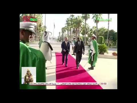 صورة مباشرة بعد تطوع المغرب بناء ملعب لموريتانيا … الرئيس الموريتاني يستقبل وزير خارجية بوليساريو !