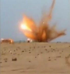 صورة انفجار لغم يودي بحياة عسكري نواحي السمارة