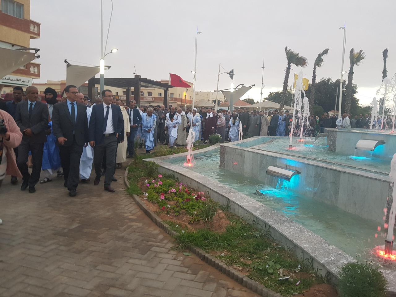 صورة عامل إقليم بوجدور يشرف على تدشينات بمناسبة ذكرى تقديم وثيقة الإستقلال