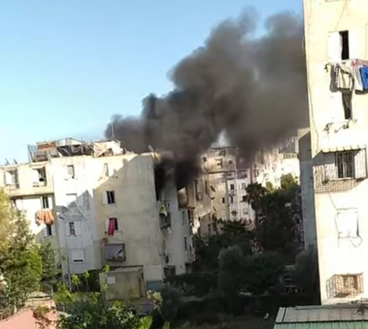صورة انفجار قنينات غاز يدمر عمارة سكنية بالدارالبيضاء (فيديو)