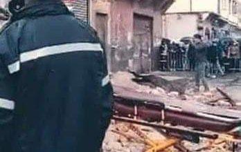 صورة انهيار منزل بدرب مولاي شريف الحي المحمدي بالدار البيضاء